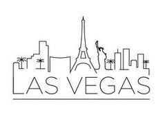 Las Vegas City Line Silhouette Typographic Design Las Vegas Usa, Las Vegas City, Vegas Skyline, Skyline Art, Skyline Silhouette, Silhouette Vector, Tape Art, Vegas Tattoo, City Sketch