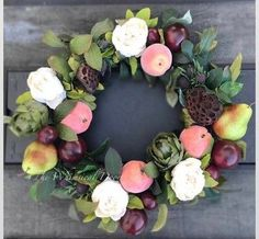 Excited to share this item from my shop: Fall wreath Peony wreath wreath farmhouse wreath front door wreath fruit wreath Spring Front Door Wreaths, Fall Wreaths, Greenery Wreath, Floral Wreath, Home Decor Hooks, Seasonal Celebration, Magnolia Wreath, Porch Decorating, Artificial Flowers