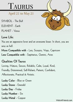 Taurus Zodiac Sign Horoscopes @ Astrology Sector