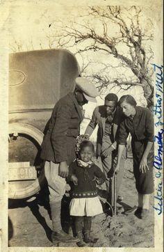 Looking After Little Almita Randell  Texas, 1920's  [Ross Family Album]