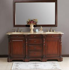 The Awesome Web Found it at Wayfair Cambridge Double Bathroom Vanity in Antique Cherry