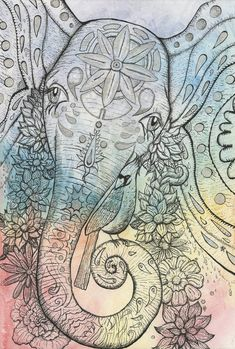Hey, I found this really awesome Etsy listing at https://www.etsy.com/listing/95740010/cosmic-psychedelic-elephant-art-print