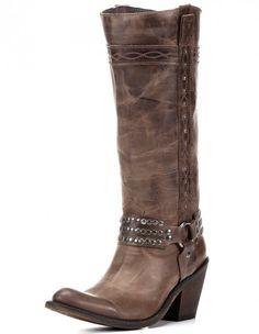 Alyssa Harness Boot - Walnut Tall Boot