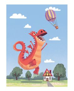 Dragon Print for Kids / Children's Wall Art / by PicklePunch, $30.00