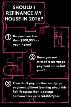 Want to save up to $3,000/year on your mortgage payments? Those who owe less than $300,000 on their home and haven't missed a mortgage payment in the last year can use Obama's once in a lifetime mortgage relief program. The program is totally free and doesn't add any cost to your refi. Will you take advantage before it expires in December 2016?