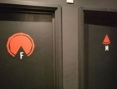 restrooms at a pizza restaurant