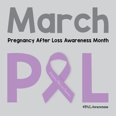 March is Pregnancy After Loss Awareness Month, hosted by PregnancyAfterLossSupport.com #PALAwareness #PregnancyAfterLoss #PAL
