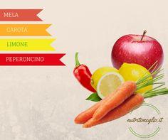 """Un succo energizante a base di mela e carote. La ricetta completa la trovi nel nostro ricettario """"SUCCHI DI OTTOBRE"""" che puoi scaricare gratuitamente qua -> http://succhi-di-ottobre.gr8.com"""