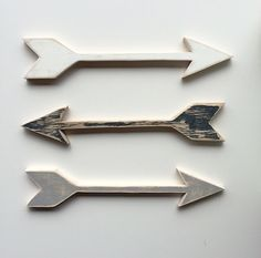 This listing is for a hand cut rustic wooden arrow. This arrow is 1/2 thick 11.5x2.5 Your choice of rustic white, grey or black.