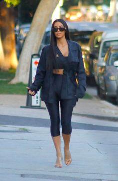 Kim Kardashian picks up food from Stanley's restaurant in LA