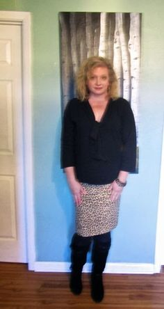 Collected Yarns: McCalls 3830 -- Leopard Print Skirt