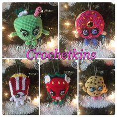 Shopkins Christmas Ornaments - Crochet Pattern Bundle by Crochetkins on Etsy                                                                                                                                                                                 More
