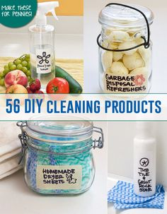56 DIY cleaning products to make for pennies! 56 DIY cleaning products to make for pennies! Homemade Cleaning Supplies, Cleaning Recipes, Cleaning Hacks, Dry Cleaning, Household Cleaners, Diy Cleaners, Cleaners Homemade, Limpieza Natural, The Bo