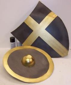 Two cardboard shields