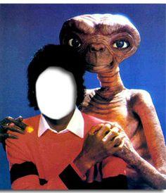 #fotomontaje #Michael #Jackson con #ET, fotomontaje de Michael Jackson con tu foto. #friki #freak #extraterrestre #poster www.fotoefectos.com