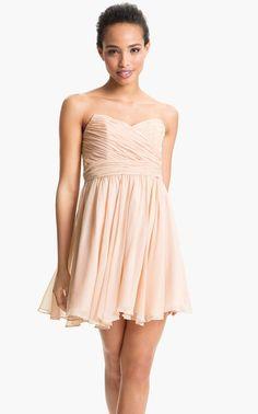 jill stuart Pleated Silk Chiffon Sweetheart Dress
