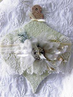 White Christmas Ornament Card . Paper Art . leesiebella . flickr.com