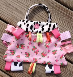 Taggies by Zazalicious..Girls 1st purse by OhhhhhhZaZa on Etsy, $14.95