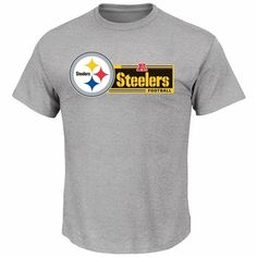 Pittsburgh Steelers Majestic Critical Victory VII T-Shirt - Gray