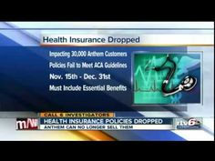 Surprise! 30,000 More People are About to Lose their Health Coverage Under Obamacare 6 November 2014 -  Anthem Insurance has just sent out more than 30,000 notices of cancellation to Indiana residents whose health insurance plans don't meet up with Obamacare's sometimes ridiculous standards. They will be forced to either purchase a new plan or sign up for Obamacare before January 1st, 2015.
