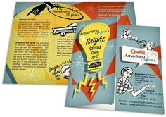1950's graphic design | Project: 1950′s inspired tri-fold brochure