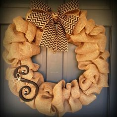 Burlap wreaths for $30 Can deliver/meet locally or can ship for an additional fee Email/call orders or any questions to hannaheades2005@yahoo.com find me on facebook Bowlicious Creations under Hannah Eades