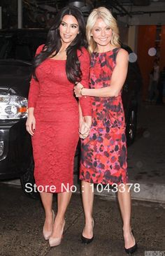 2014 New Fashion Red Sheath Square Lace Kim kardashian dress Long Sleeve Mid Calf Length Celebrity red carpet dresses Evening-in Celebrity-Inspired Dresses from Apparel & Accessories on Aliexpress.com