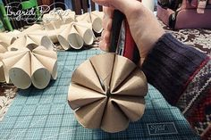 toilet paper roll craft- fall flowers for community dinner?