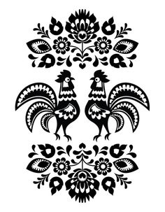 Folk Art Patterns from $41.99 | www.wallartprints.com.au #FolkArtPatterns