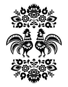 Folk Art Patterns from $41.99 | www.wallartprints.com.au #FolkArtPatterns