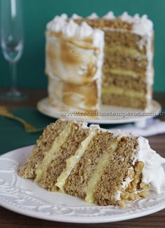 Sweet Recipes, Cake Recipes, Dessert Recipes, Desserts, Cupcakes, Cupcake Cakes, Banoffee, Cream Cake, Party Cakes