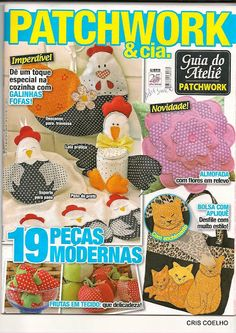 25 Guia do Atelie patchwork n.13 - maria cristina Coelho - Álbuns da web do Picasa Diy Projects To Try, Crafts To Make, Sewing Magazines, Book Quilt, Patch Quilt, Easy Quilts, My Scrapbook, Felt Dolls, Book Crafts