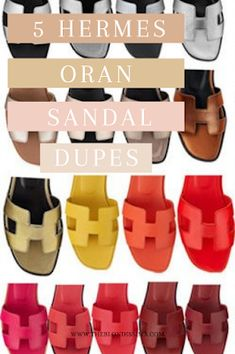 Hermes Oran Sandal Dupes - The Blondissima