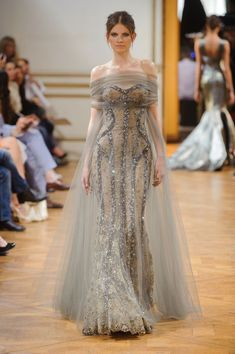 """I'm kind of intrigued by this """"mummy"""" wrap over a dress like this... really intrigued. Zuhair Murad Fall 2013"""