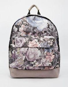 8a4fb9b4371 Mi-Pac Digital Floral Print Backpack Grey Backpacks, Floral Backpack,  Floral Bags,