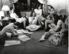 Students gather to study in the dorms, 1950s