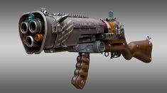 Futuretta Shotgun Rifle by Facundo Giovannone Cosplay Weapons, Anime Weapons, Sci Fi Weapons, Weapon Concept Art, Fantasy Weapons, Weapons Guns, Steampunk Weapons, Science Fiction, Future Weapons