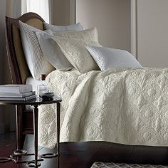 Logan Coverlet - Intricate quilt stitching adds textural richness. Very soothing when paired with white sheets.