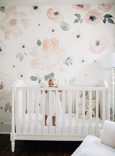 Baby Girl's Blush and White Nursery