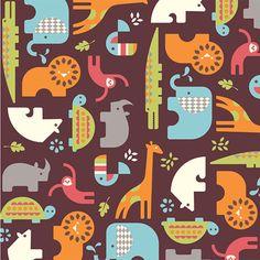 Soiree in Brown by Birch Fabrics  1 Yard  Safari by Owlanddrum, $16.50 Organic Cotton