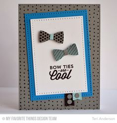 Terrific Ties, Blueprints 25 Die-namics, Cross-Stitch Rectangle STAX Die-namics, Terrific Ties Die-namics - Teri Anderson  #mftstamps