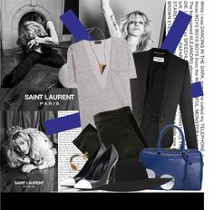 """""""Courtney Love for Saint Laurent"""" by julietav ❤ liked on Polyvore"""