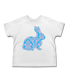 Look at this Festivi-tees White & Blue Baroque Easter Bunny Tee - Toddler & Girls on #zulily today!