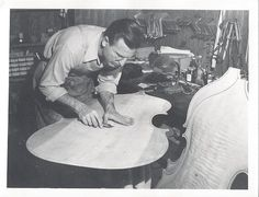"""Paul Toenniges, founder of Studio City Music (aka """"Benning Violins""""), was a preeminent maker of fine double bass instruments. See his impressive work: Violin Shop, Double Bass, Studio City, Old Photos, Biography, Father, Music, Fictional Characters, Instruments"""