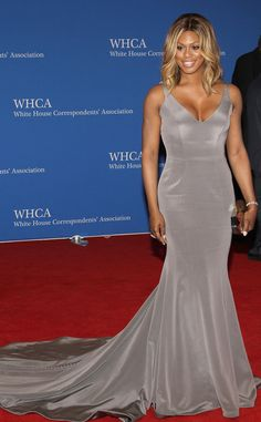 Laverne Cox from 2015 White House Correspondents' Dinner: Star Sightings | E! Online