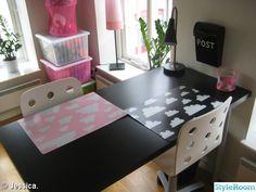 moln,skrivbord,ikea,bruka design,förvaring,rosa,svart,gunila axèn,stol