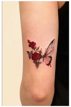 Butterfly Tattoo Designs, Tattoo Designs For Women, Tattoos For Women Small, Small Tattoos, Unique Women Tattoos, Butterfly Sleeve Tattoo, Butterfly With Flowers Tattoo, Hibiscus Flower Tattoos, Simple Hand Tattoos