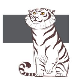 Tiger Sketch drawing from http://dailycatdrawings.tumblr.com/