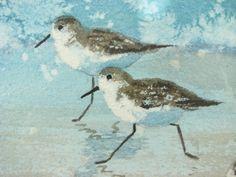 beach scenes watercolor paintings | FRAMED BEACH SCENE WATERCOLOR PAINTING
