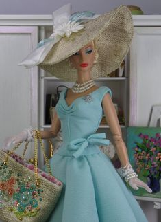 Sunlit Water for Silkstone Barbie and Victoire by MatisseFashions Barbie Dress, Barbie Clothes, Barbie Outfits, Barbie Stuff, Fashion Royalty Dolls, Fashion Dolls, Dolly Fashion, Glamour, Vintage Barbie